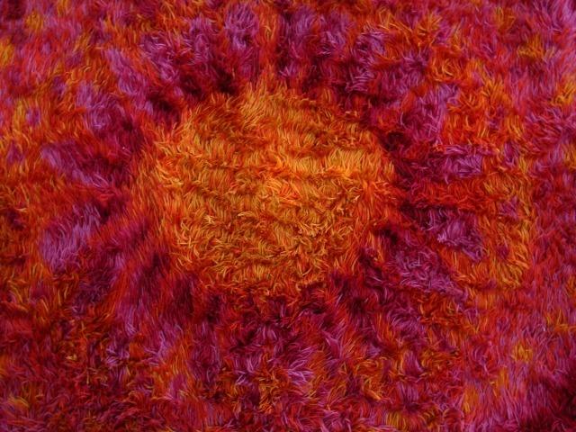 Danish sunburst rya rug