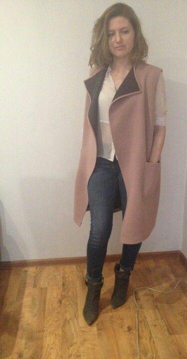 # sleeveless coat #пальто # coat