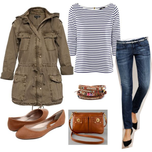 Weekend Casual, created by hambles on Polyvore: Hambl, Casual Fall, Perfect Travel Outfit, Weekend Casual, Stripes Shirts, Fall Winter Clothing, Closet, Create, Coats