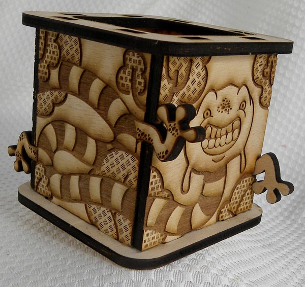 Laser cut and Engraved Monster Box