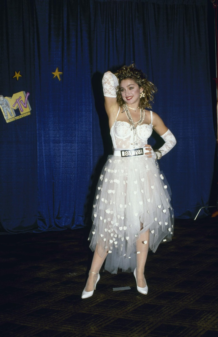 "Madonna, ""Like a Virgin"" bridal dress, MTV Video Music Awards, 1984"