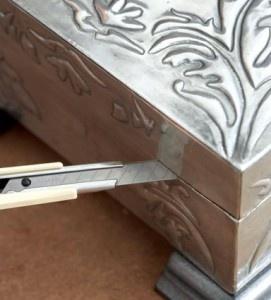 Pewter Jewellery box