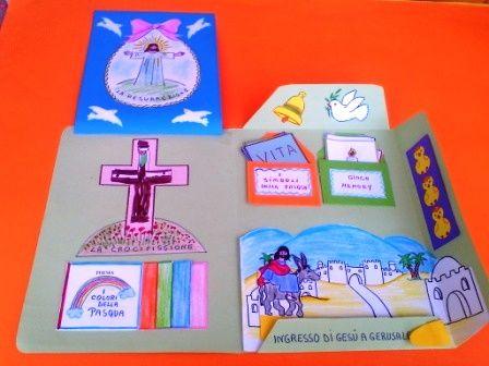 """Avviciniamo i bambini al mistero della Pasqua costruendo con loro il lLapbook """"La Pasqua di Gesu'."""