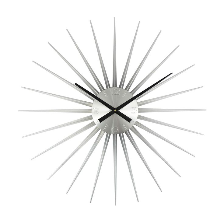 Dot Bo Furniture And Decor For The Modern Lifestyle Sunburst Clock Silver Wall Clock Clock