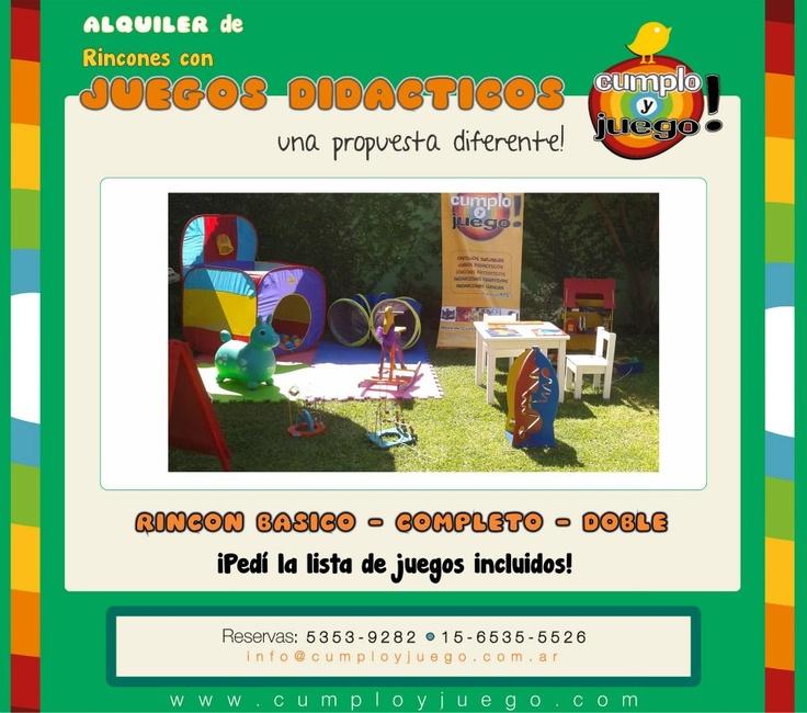 Alquiler de Juegos Didacticos Castelar, zona oeste Gran Buenos Aires