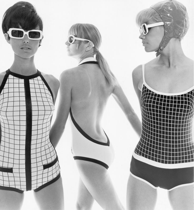 "the60sbazaar: ""Op Art style swimwear (1966) """