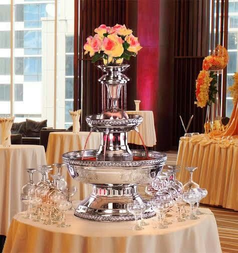 Champagne Fountain Station At Wedding El Collection