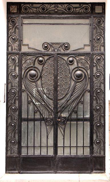 Wrought Iron Door, Casablanca by colros, via Flickr