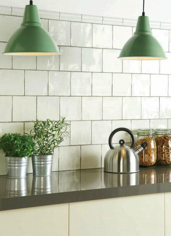 Wandtegels keuken voorbeelden: vintage wandtegels