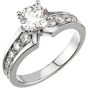 Popular A gorgeous thick band set with sparkling side stones adds spectacular visual drama while tall Cheap Engagement RingsDiamond