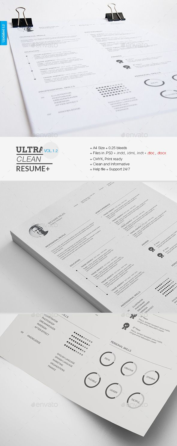 Best Resume Template Images On   Visit Cards