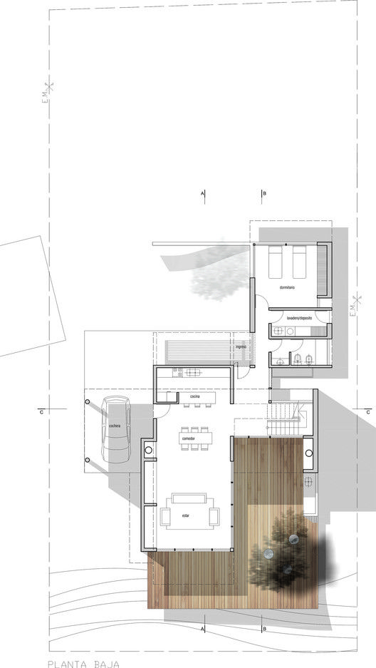 Lottersberger House,Ground Floor Plan