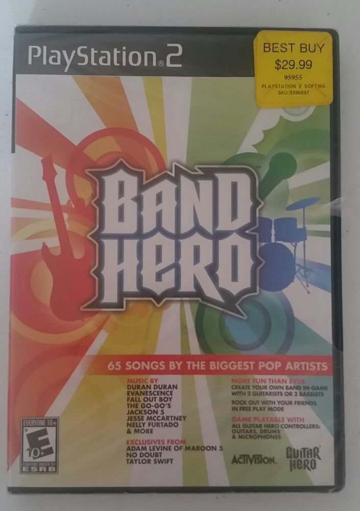 Band Hero Video Game PS2 (Sony PlayStation 2, 2009) #Activision