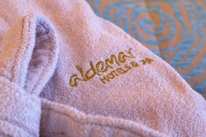 VIP Bath Set, Bathrobe, Slippers and more services for your benefit! http://www.aldemar-resorts.gr/
