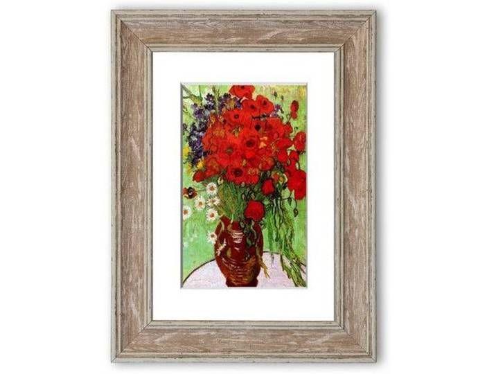 Stillleben Rote Mohnblumen Und Ganseblumchen Von Vincent Van Gogh Gerahmte Fotodrucke Rote Mohnblumen Mohn Rot