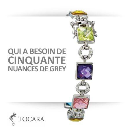 Qui a besoin de cinquante nuances de grey ?  Bijoux Tocara bracelet Isidora | DiAmi - argent sterling - Rhodié