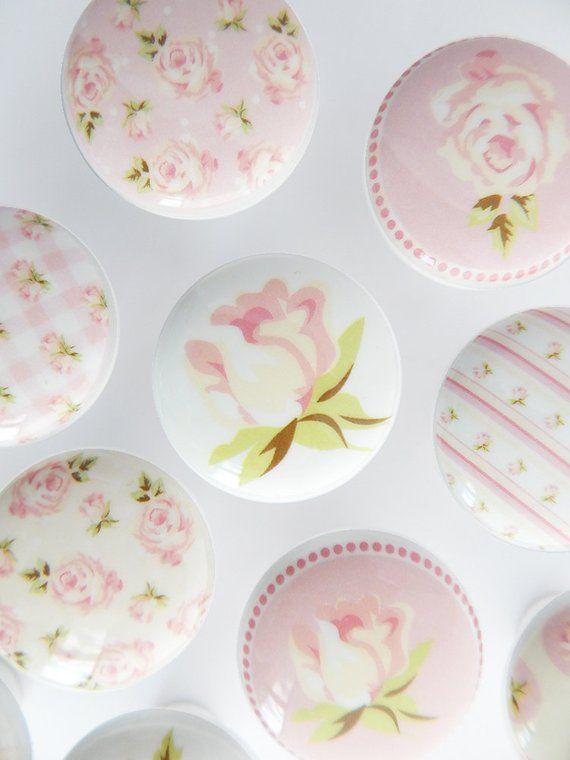 Pink Rose Drawer S These Are Beautiful White Ceramic With Extra Durable Hard Resin Tops You May Order The Set Of 10 As Shown Or Them