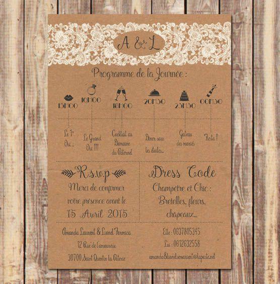 24 best faire part mariage vintage boh me chic nature - Faire part mariage retro boheme ...