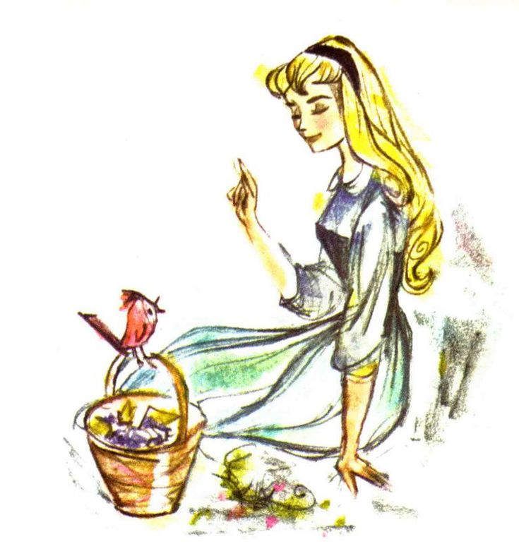 Sleeping Beauty early character design sketch