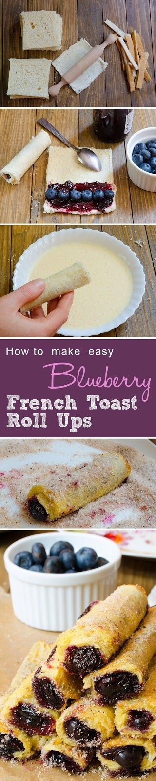 Perfect Blueberry French Toast Roll Ups