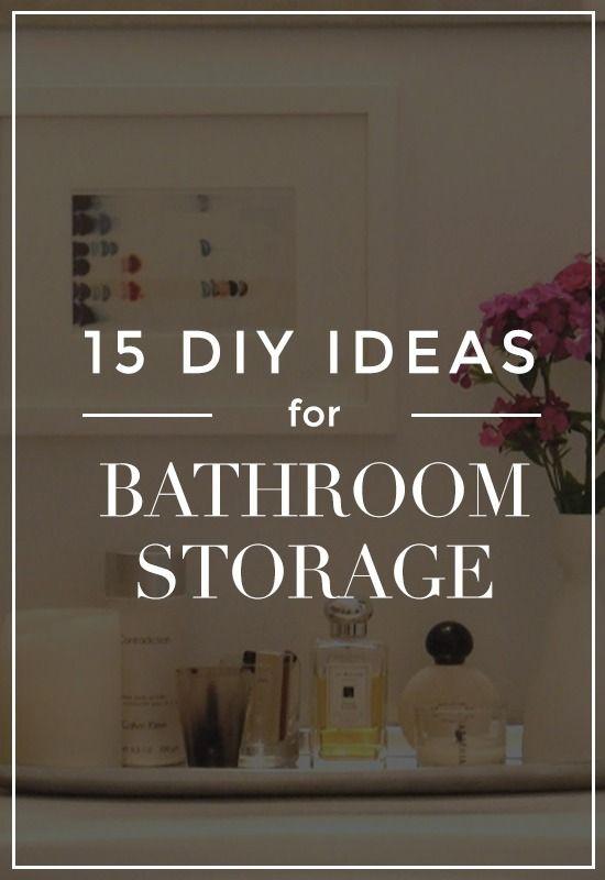 15 DIY bathroom storage ideas