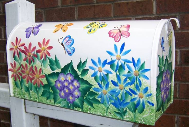 Painted Mailboxes | Hand Painted Mailboxes, Trash Cans, Glassware and More!
