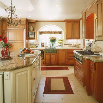 Kitchen Design Ideas With Golden Oak Cabinets 242 River White Granite Countertops San Diego