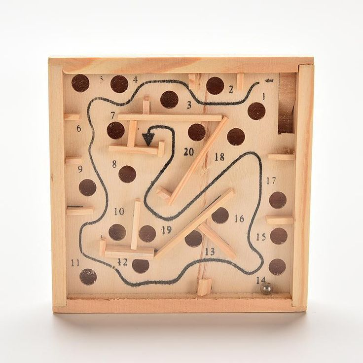 Funny Wooden Labyrinth Board Game Ball In Maze Puzzle Handcrafted Toys 11.5*2.5cm Children Educational Toys Wooden Toy Mini