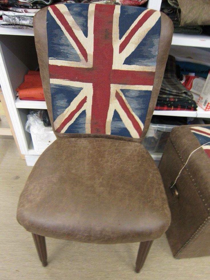 Renoverad stol.