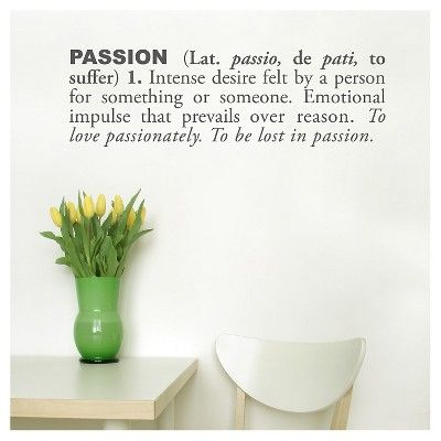 Passion Definition Wall Decal - Black