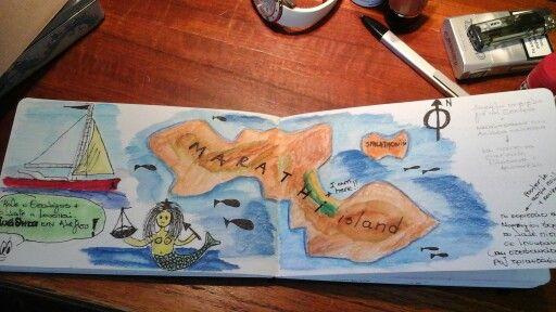my travel journal. Marathi island. Summer 2015