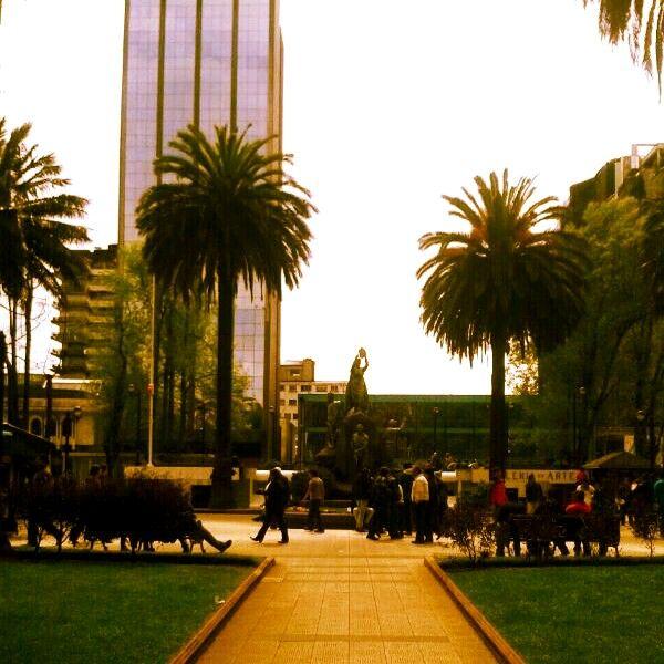 Plaza principal de Temuco.