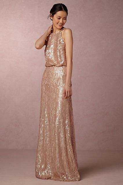 Anthropologie Sequined Alana Wedding Guest Dress Looking For Something Glamorous Look No Further Than
