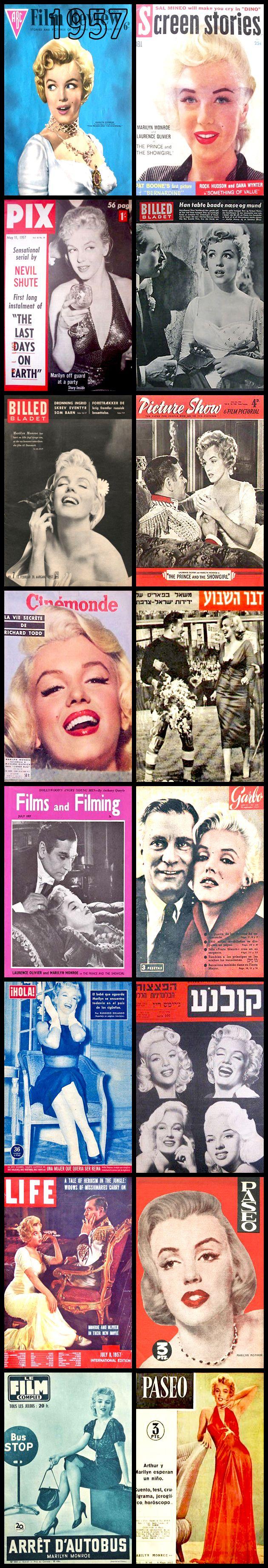 1957 magazine covers of Marilyn Monroe .... #normajeane #vintagemagazine #pinup #iconic #raremagazine #magazinecover #hollywoodactress #monroe #marilyn #1950s