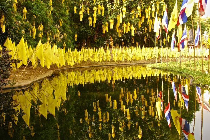 Water reflection in Chiang Mai
