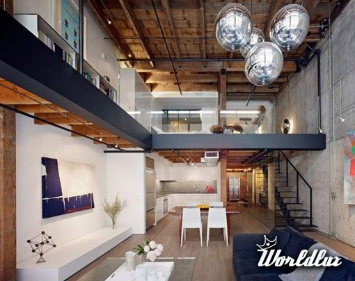 sleek loft after old warehouse