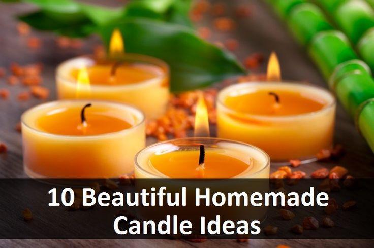 10 Beautiful Homemade Candle Ideas