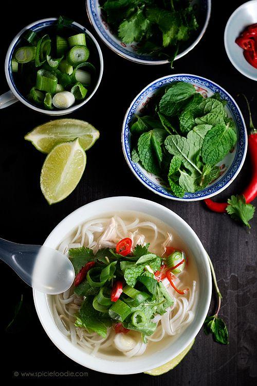 Vietnamese Chicken Noodle Soup: Pho Ga
