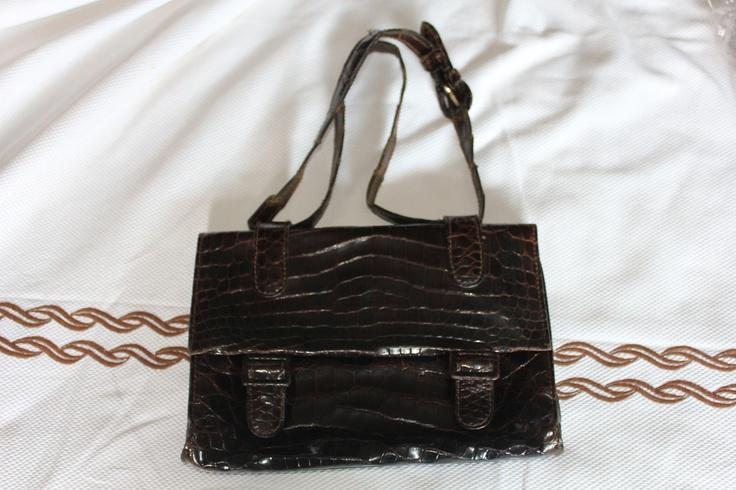 early 50s real crocodile bag