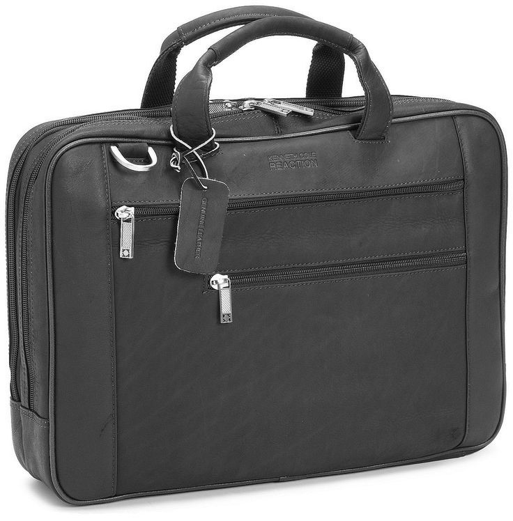 """tangentul perfect"" Kenneth Cole Reaction Luggage Double Play Briefcase https://gentosenii.wordpress.com/2016/07/11/servieta-piele-kenneth-cole-reaction-luggage-portlaptop-17/ via @GENTOSENII servieta piele, geanta neagra"