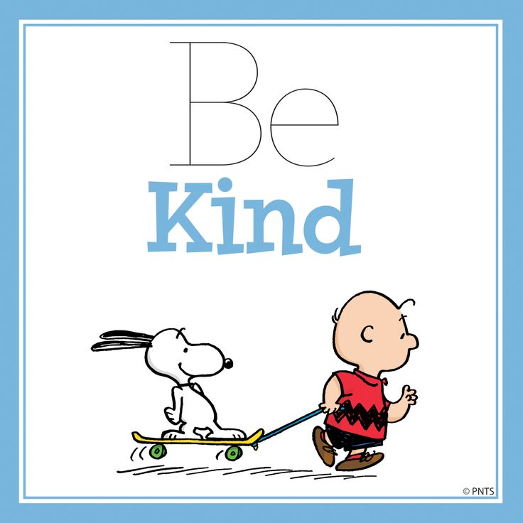 """""""Be Kind"""" #words #quotes #comics #charliebrown #snoopy - Carefully selected by @Gorgonia www.gorgonia.it"""