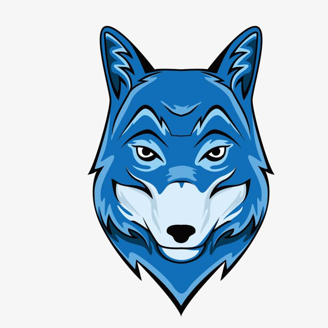 Vector Blue Wolf Head Vector Blue Wolf Head Png Transparent Clipart Image And Psd File For Free Download Wolf Head Vector Wolf