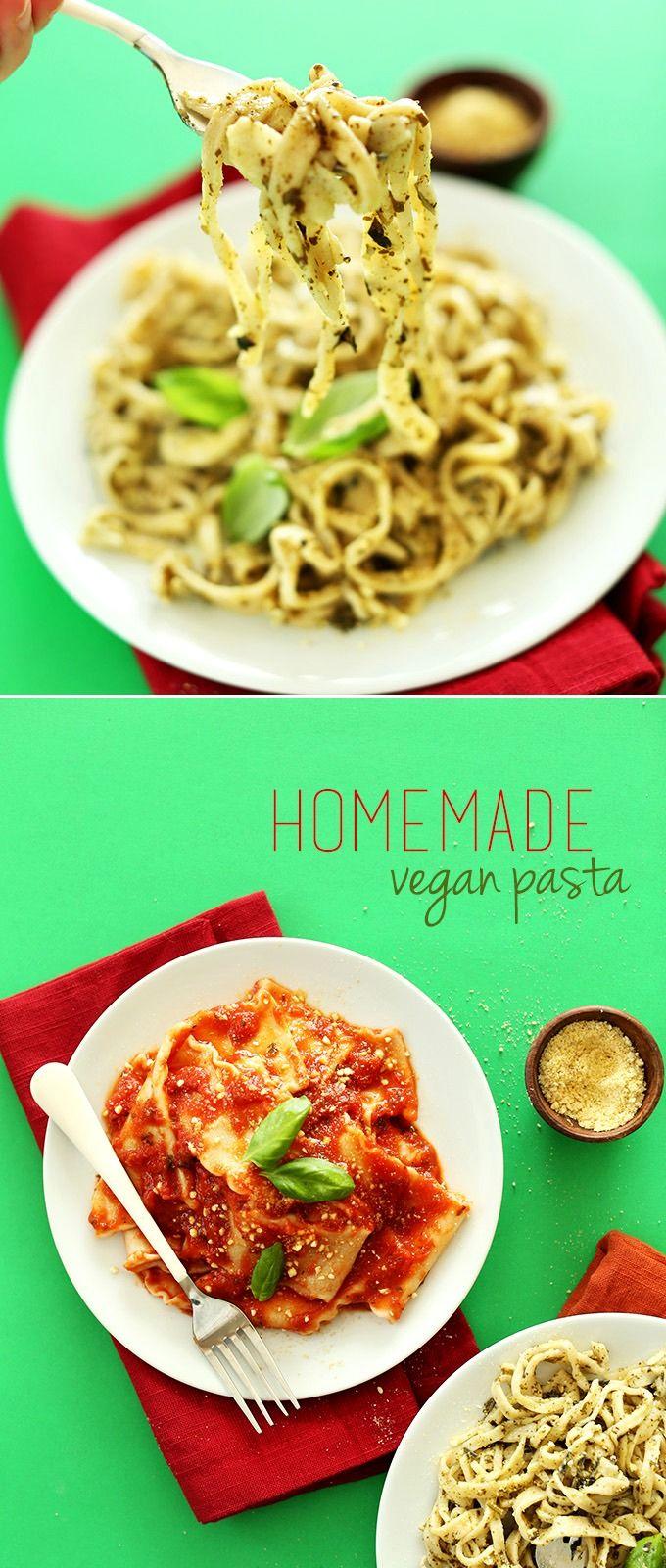 3-Ingredient Homemade Vegan Pasta! #vegan