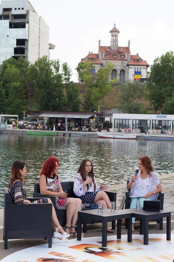 "Simona Niculescu, Bianca Folescu si Alina Spinu la emisiunea Silviei Pascale ""In Briza Marii"" in 2016"