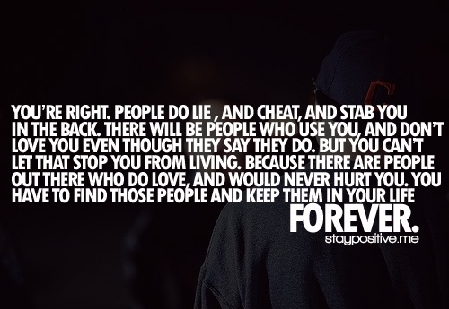 You're Right. People Do Lie, And Cheat, And Stab You In