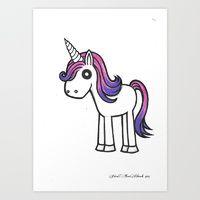 Overly Cute Unicorn drawing print