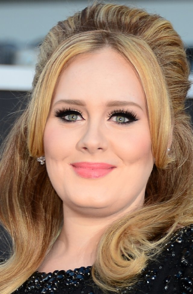 Adele at the 85th Annual Academy Awards at Dolby Theatre in Los Angeles ,February 2013. #Oscars2013