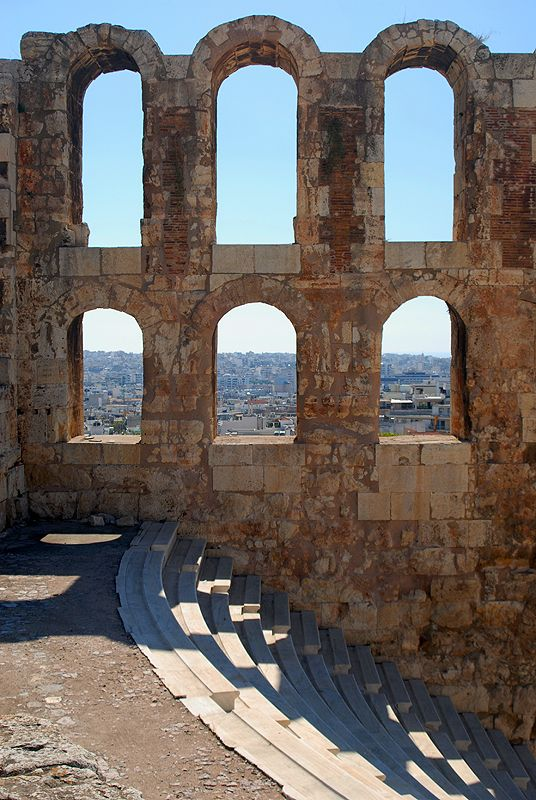 Odeon of Herodes Atticus, Acropolis Hill (Walking Athens, Plaka - r.04)