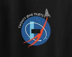 Twenty One 21 Pilots Nasa Space Shuttle Rocket Science Abstract Tee T-Shirt