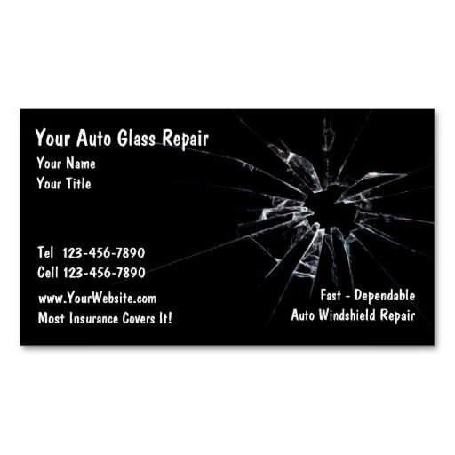Auto Gl Repair Business Card Automotive Cards Pinterest And